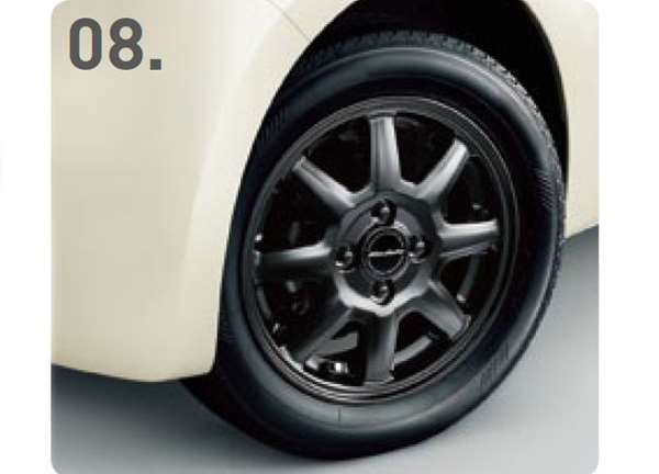 『N-ONE』 純正 JG1 JG2 14インチアルミホイール MS-024(ベルリナブラック(マット)塗装) ※1本につき ※2015年9月下旬発売予定 パーツ ホンダ純正部品 安心の純正品 オプション アクセサリー 用品
