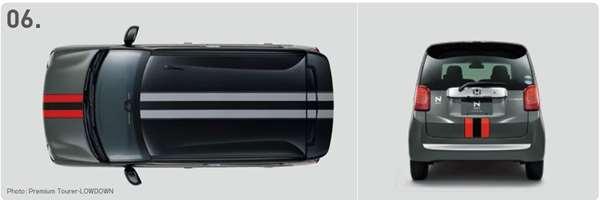『N-ONE』 純正 JG1 JG2 デカール センターストライプ レッド&ブラック ※ステッカーのみ パーツ ホンダ純正部品 ステッカー シール ワンポイント オプション アクセサリー 用品