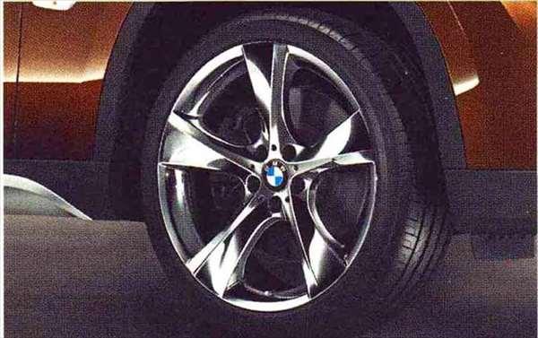 X1 パーツ スタースポーク・スタイリング311(クローム)のホイール単体 8J×19(フロント) BMW純正部品 VL25 VM20 オプション アクセサリー 用品 純正 送料無料
