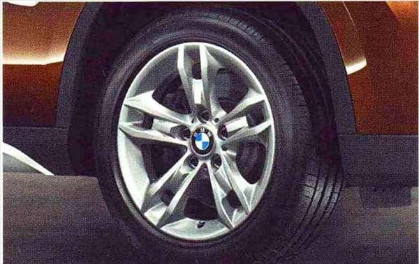 X1 パーツ スタースポーク・スタイリング319のホイール単体 7.5J×17(フロント/リヤ) BMW純正部品 VL25 VM20 オプション アクセサリー 用品 純正 送料無料
