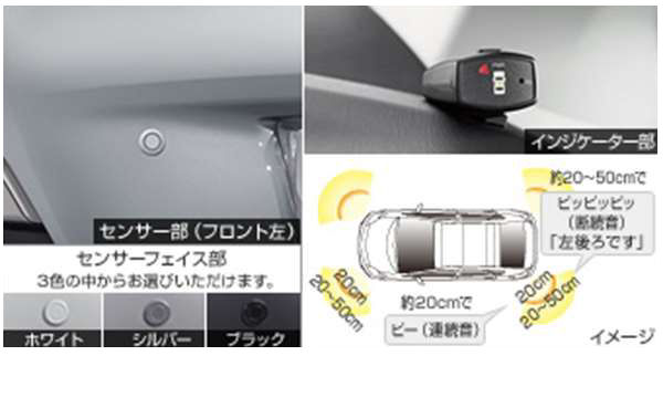 『プリウス』 純正 ZVW35 コーナーセンサーボイス4センサー用のセンサーキット前後左右4個のみ パーツ トヨタ純正部品 危険察知 接触防止 セキュリティー prius オプション アクセサリー 用品