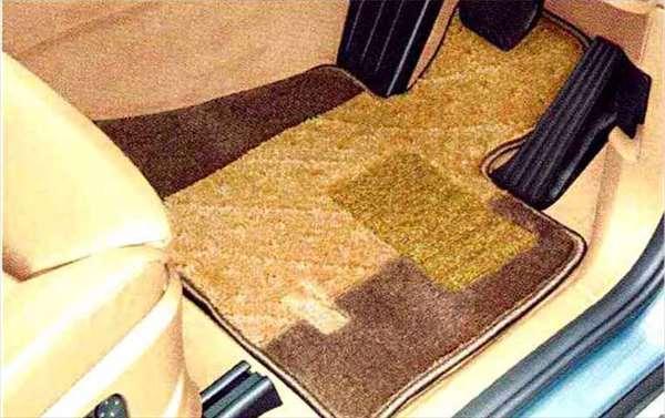 """X5 パーツ フロア・マット・セット""""サキソニー・ロイヤル"""" ベージュ・アンド・ブラウンのサード・ロー・シート(3列目シート)用 BMW純正部品 KS30S KS30 KR44S KR44 オプション アクセサリー 用品 純正 マット"""