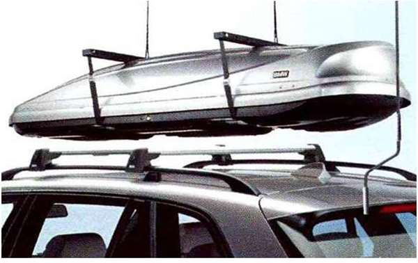 """X5 パーツ ユニバーサル・リフトのアダプター""""ルーフ・ボックス""""用 ※本体は別売です BMW純正部品 KS30S KS30 KR44S KR44 オプション アクセサリー 用品 純正"""