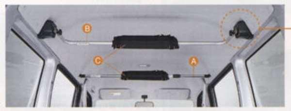 『アクティ』 純正 HH5 HH6 ルーフインナークロスバー リヤ用 パーツ ホンダ純正部品 acty オプション アクセサリー 用品