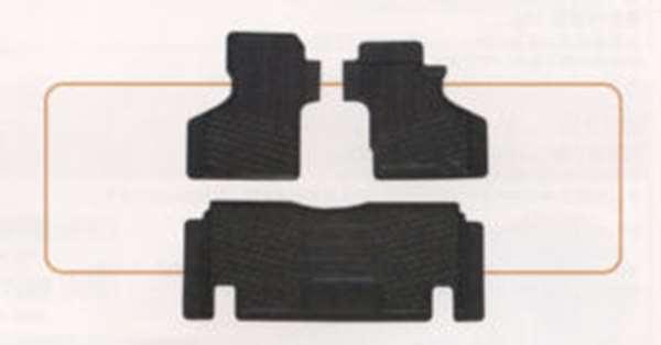 『アクティ』 純正 HH5 HH6 フロアラバーマット フロント用左右セット/リヤ用セット パーツ ホンダ純正部品 ゴムマット フロアマット acty オプション アクセサリー 用品