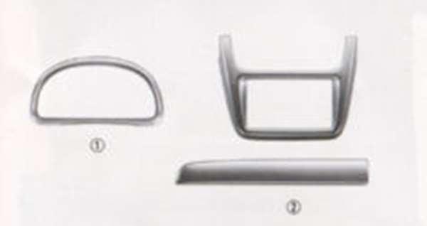 『アクティ』 純正 HH5 HH6 インテリアパネル(ヘアライン調)メーター部 パーツ ホンダ純正部品 内装パネル acty オプション アクセサリー 用品