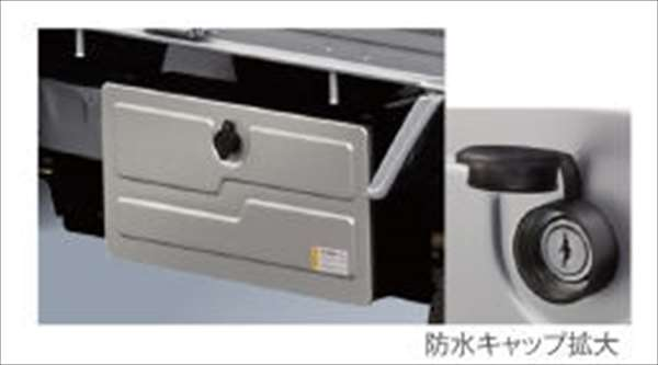 『ハイゼットトラック』 純正 S500P 工具箱 パーツ ダイハツ純正部品 hijettruck オプション アクセサリー 用品