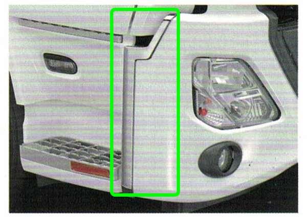 『クオン』 純正 GK5AAB メッキバンパーエンドカバー 左右セット パーツ 日産ディーゼル純正部品 オプション アクセサリー 用品