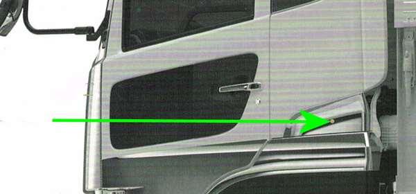 『クオン』 純正 GK5AAB メッキクォーターガーニッシュ 左右セット パーツ 日産ディーゼル純正部品 オプション アクセサリー 用品