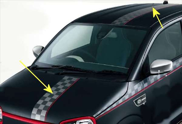 『アルト』 純正 HA36S フード&ルーフデカール チェッカー 2枚セット ※ステッカーのみ パーツ スズキ純正部品 ステッカー シール ワンポイント alto オプション アクセサリー 用品