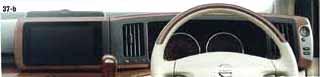『エルグランド』 純正 E51 木目調パネル/クラスターA+TVモニター パーツ 日産純正部品 インテリアパネル 内装パネル ELGRAND オプション アクセサリー 用品