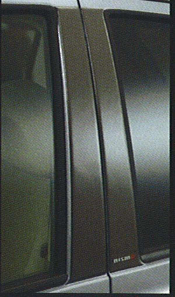 『マーチ』 純正 YK12 AK12 カーボンピラーガーニッシュ パーツ 日産純正部品 エアロパーツ MARCH オプション アクセサリー 用品