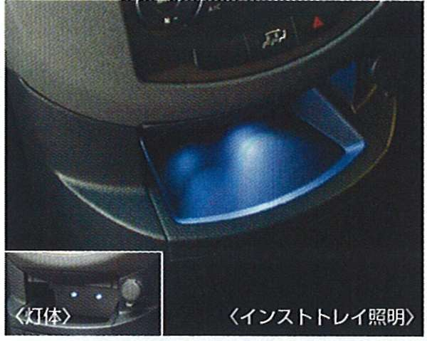 『ラフェスタ』 純正 B30 NB30 マジカルイルミネーション(インストトレイ照明) パーツ 日産純正部品 ホルダー部分 ライト 照明 LAFESTA オプション アクセサリー 用品