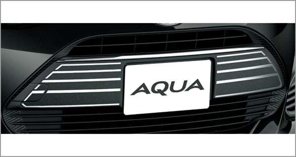『アクア』 純正 NHP10H NHP10 フロントグリルデカール(メッキ調) パーツ トヨタ純正部品 ステッカー シール ワンポイントカスタム エアロパーツ オプション アクセサリー 用品