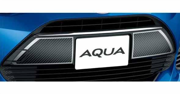 『アクア』 純正 NHP10H NHP10 フロントグリルデカール(カーボン調) パーツ トヨタ純正部品 ステッカー シール ワンポイントカスタム エアロパーツ オプション アクセサリー 用品
