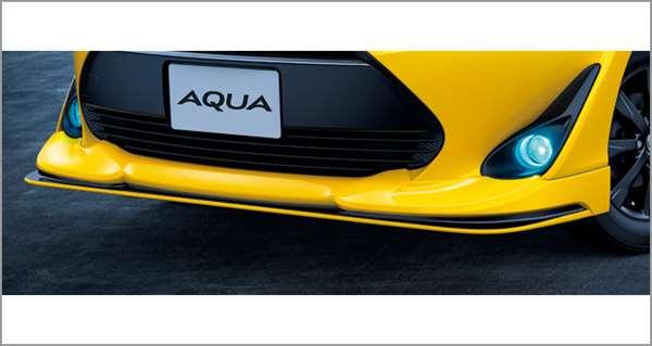 『アクア』 純正 NHP10H NHP10 フロントスポイラー パーツ トヨタ純正部品 オプション アクセサリー 用品