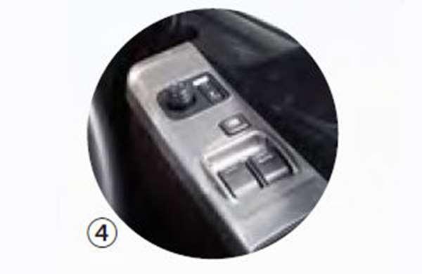 『プロフィア』 純正 FR1EZYJ FN1EYYG FN1EWXA FW1EXYJ メタル調パネル 右ドアスイッチパネル パーツ ヒノ純正部品 内装ベゼル パワーウィンドウパネル オプション アクセサリー 用品