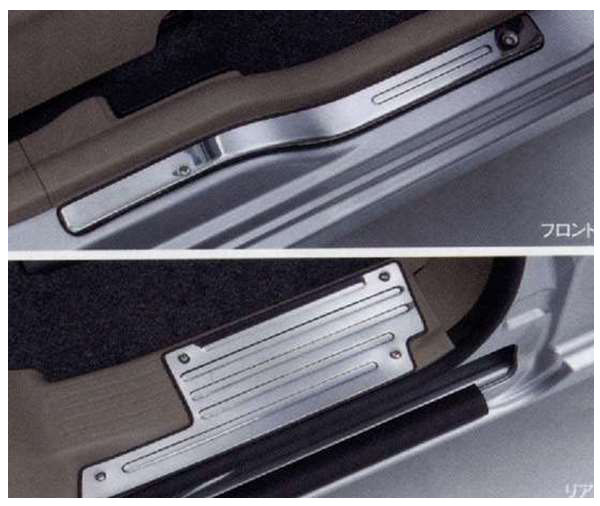 『フレアワゴン』 純正 MM21S サイドシルスカッフ パーツ マツダ純正部品 ステップ 保護 プレート FLAIR オプション アクセサリー 用品
