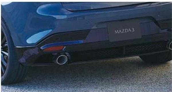 【送料無料】  『MAZDA3』 純正 DKEFW DKEAW DKF8W DK8AW リアアンダースカート本体のみ ラバーシールは別売 パーツ マツダ純正部品 リヤスポイラー リアスポイラー エアロパーツ オプション アクセサリー 用品