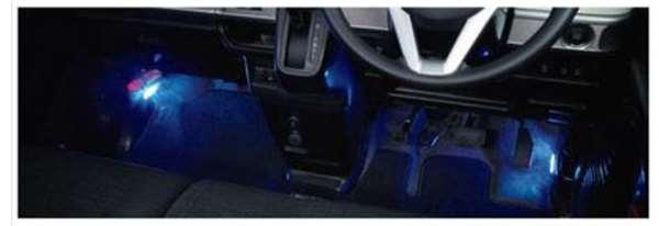 『スペーシア』 純正 MK53S フットイルミネーション 8色切替機能付 フロント左右セット パーツ スズキ純正部品 照明 明かり ライト オプション アクセサリー 用品