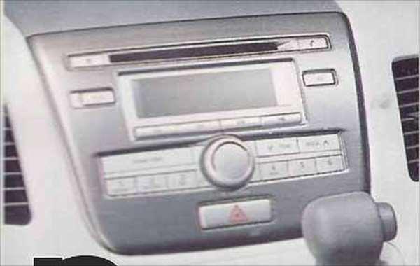 『ワゴンR』 純正 MH23S センターガーニッシュ(標準装備オーディオ用)/ヘアライン調 パーツ スズキ純正部品 内装パネル センターパネル オーディオパネル wagonr オプション アクセサリー 用品