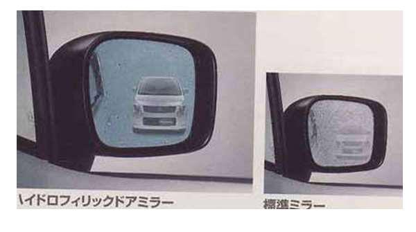 『ワゴンR』 純正 MH23S ハイドロフィリックドアミラー パーツ スズキ純正部品 水滴 視界 ブルー wagonr オプション アクセサリー 用品