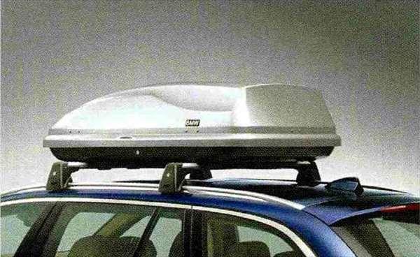 """5 パーツ ルーフ・ボックス""""350"""" シルバー BMW純正部品 XG20 FW20 XG28 FR35 KN44 XL20 MX20 XL28 MU35 HR44 オプション アクセサリー 用品 純正 送料無料"""
