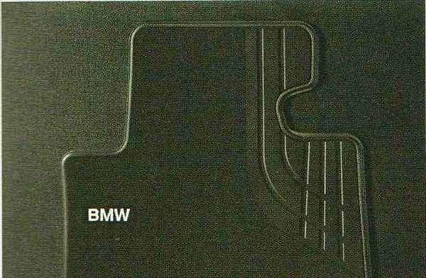 3 SEDAN・TOURING パーツ フロア・マット・セットTextile ブラック(Srandard)のリヤ・セット BMW純正部品 3A20 3B20 3D20 3A30 オプション アクセサリー 用品 純正 マット