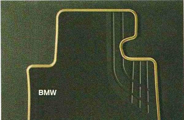 3 SEDAN・TOURING パーツ フロア・マット・セットTextile ブラック/オイスター(Modern)のフロント・セット BMW純正部品 3A20 3B20 3D20 3A30 オプション アクセサリー 用品 純正 マット