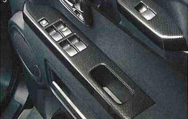 『デリカD:5』 純正 CV5W CV4W ドアスイッチパネルセット(カーボン調) パーツ 三菱純正部品 内装ベゼル パワーウィンドウパネル DELICA オプション アクセサリー 用品