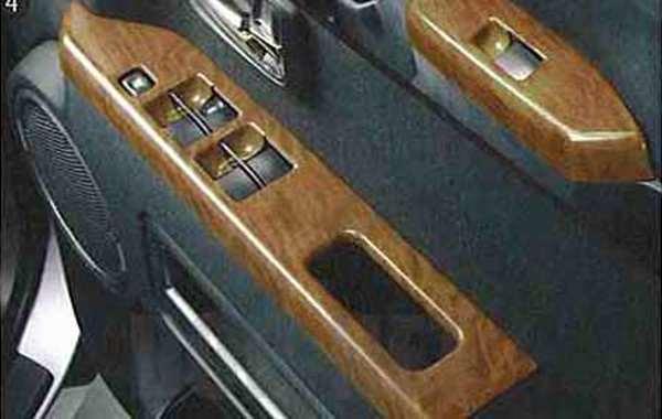 『デリカD:5』 純正 CV5W CV4W ドアスイッチパネルセット(木目調) パーツ 三菱純正部品 内装ベゼル パワーウィンドウパネル DELICA オプション アクセサリー 用品