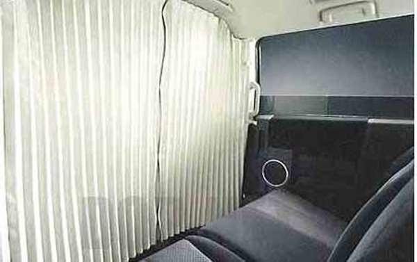 『デリカD:5』 純正 CV5W CV4W パーティションカーテン(遮光生地:ベージュ無地) パーツ 三菱純正部品 DELICA オプション アクセサリー 用品