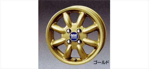 『ムーヴ』 純正 L175S L185S アルミホイール(14インチ・ミニライト・ゴールド)1本からの販売 パーツ ダイハツ純正部品 move オプション アクセサリー 用品
