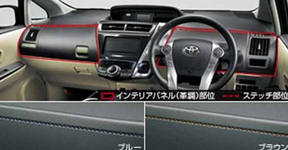 Prius Alpha Parts Interior Panel Leather Like Toyota Genuine Zvw41w Zvw40w Optional Accessories Supplies