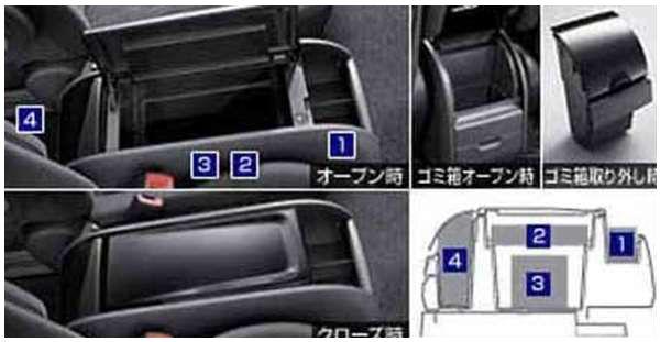 『ノア』 純正 ZRR70 コンソールボックス パーツ トヨタ純正部品 noa オプション アクセサリー 用品