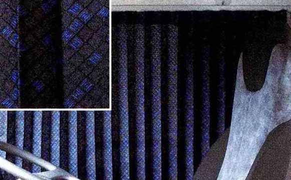 コンドル パーツ カーテン<ダークブルー> リヤ 日産ディーゼル純正部品 MK~ オプション アクセサリー 用品 純正 カーテン