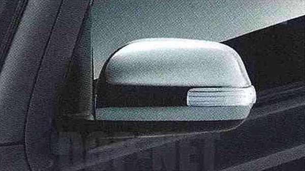 『coo』 純正 M401S M402S M411S ターンランプ付電動格納式ドアミラー(メッキ)(レインクリアリング機能付) パーツ ダイハツ純正部品 ドアミラーカバー サイドミラーカバー カスタム オプション アクセサリー 用品
