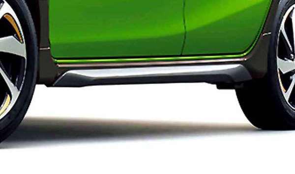 『アクア』 純正 NHP10 サイドスキッドプレート シルバー パーツ トヨタ純正部品 エアロパーツ カスタムサイドスポイラー カスタム エアロパーツ aqua オプション アクセサリー 用品