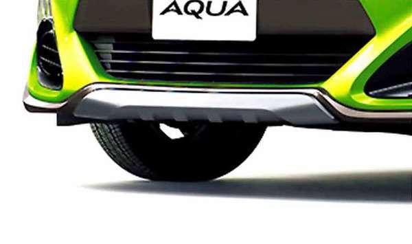『アクア』 純正 NHP10 フロントスキッドプレート シルバー パーツ トヨタ純正部品 エアロパーツ カスタムフロントスポイラー カスタム エアロパーツ aqua オプション アクセサリー 用品