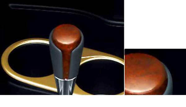 皮革包裹的浅绿色部分转移旋钮丰田纯正配件 NHP10 可选配件用品真正转变