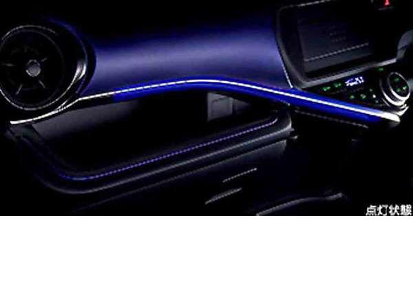 『アクア』 純正 NHP10 インパネアクセントイルミ パーツ トヨタ純正部品 aqua オプション アクセサリー 用品