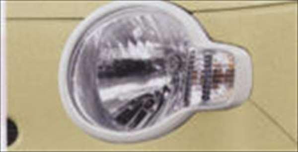 『ミラココア』 純正 L675S L685S ヘッドランプガーニッシュ(パールホワイト) パーツ ダイハツ純正部品 ヘッドライトパネル ドレスアップ カスタム miracocoa オプション アクセサリー 用品