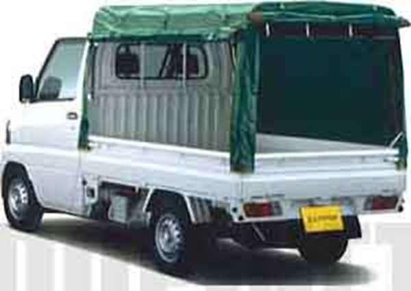 『クリッパートラック』 純正 U71T PU72T 幌(三方開:ターポリン+スチールパイプ製)/ハイルーフ(リヤフレームゲート取付タイプ) パーツ 日産純正部品 ホロ トラック幌 CLIPPER オプション アクセサリー 用品