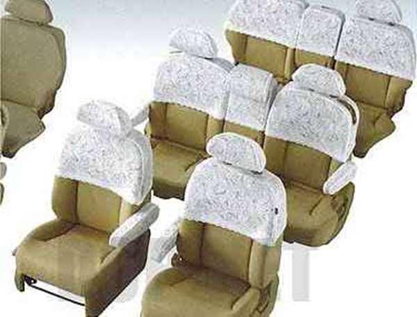 『エリシオン』 純正 RR1 シートカバー ハーフタイプ カレント柄 2列目キャプテンシート装備車用 パーツ ホンダ純正部品 座席カバー 汚れ シート保護 elysion オプション アクセサリー 用品