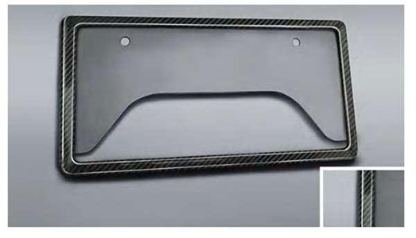 ハリアー 純正 AXUH80 AXUH85 直送商品 MXUA80 GR PARTS GRカーボンナンバーフレーム アクセサリー トヨタ純正部品 オプション 用品 ナンバーリム 授与 ナンバープレートリム パーツ ナンバー枠