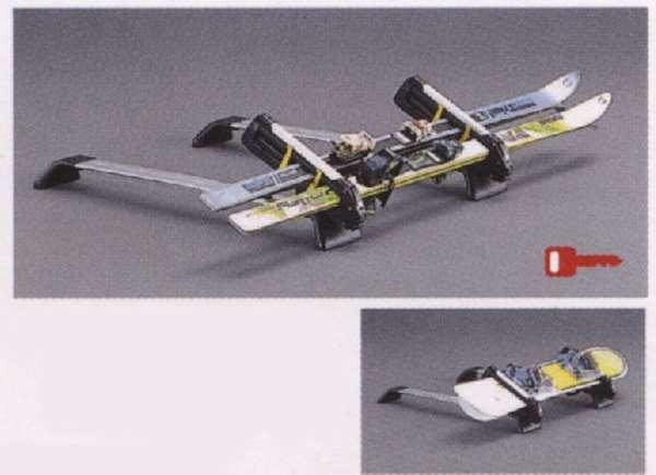 『パジェロ』 純正 V98W V97W V93W Sliding Magic Roof Carrier スキー&スノーボードアタッチメント(斜積みアルミロング) パーツ 三菱純正部品 キャリア別売りキャリア別売り PAJERO オプション アクセサリー 用品