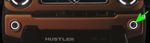 『ハスラー』 純正 MR52S リングイルミ付ハロゲンフォグランプ パーツ スズキ純正部品 フォグライト 補助灯 霧灯 オプション アクセサリー 用品
