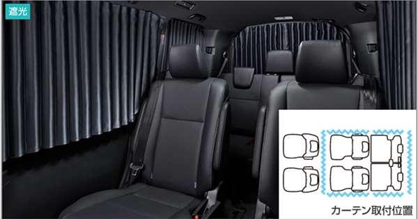 『エスクァイア』 純正 ZWR80G ZRR80G 室内カーテン(遮光機能付) パーツ トヨタ純正部品 目隠し 日除け スモーク オプション アクセサリー 用品