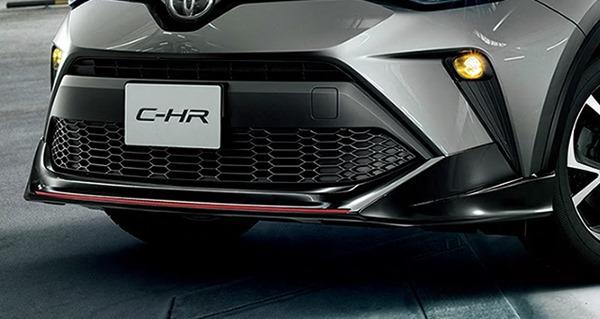 『C-HR』 純正 ZYX11 NGX10 NGX50 フロントスポイラー ブラック/レッドモール パーツ トヨタ純正部品 カスタム エアロパーツ オプション アクセサリー 用品