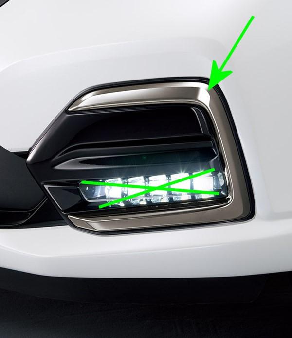 『フリード』 純正 GB7 GB8 GB5 GB6 LEDフォグライト(5連タイプ)ダーククロームメッキ フォグライトガーニッシュのみ ※本体は別売 パーツ ホンダ純正部品 エアロパーツ 外装 オプション アクセサリー 用品